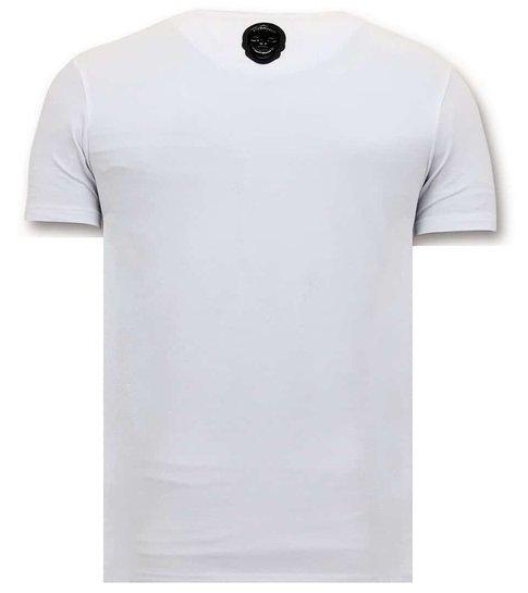 Local Fanatic Luxe Heren T-shirt - Joaquin Guzman El Chapo - Wit