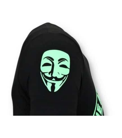 Local Fanatic Exclusief Mannen T-shirt - We Are Anonymous -Zwart