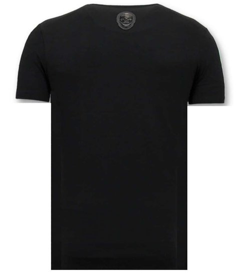 Local Fanatic T-shirt Mannen Met Print - Zwitsal Met Sunglass - Zwart