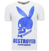 Local Fanatic Exclusief Heren T-shirt  - Destroyed Playtoy - Wit