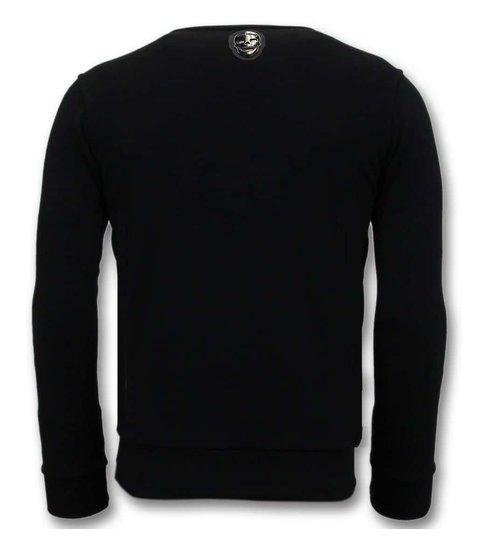 Local Fanatic Exclusieve Sweater Heren - Joaquin Guzman El Chapo - Zwart