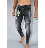 TRUE RISE Skinny Fit Jeans Mannen - A13D - Grijs