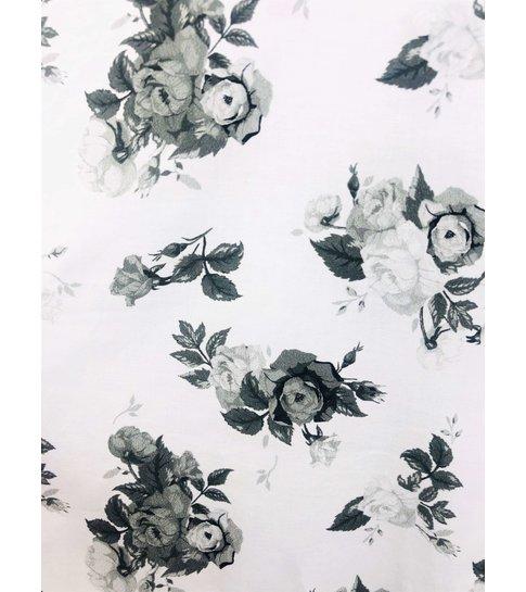 TONY BACKER Luxe Heren Overhemden Bloemen Print - 3059 - Wit