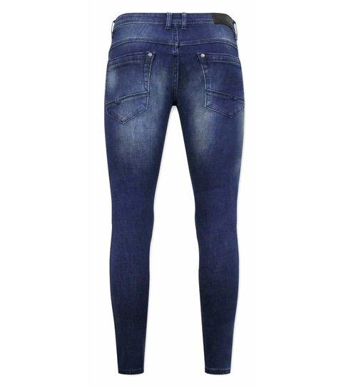TRUE RISE Spijkerbroek Heren Stretch -D-3058 - Blauw