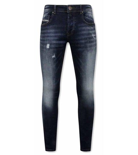 TRUE RISE Stretch Spijkerbroeken voor Mannen - A-11016 - Blauw