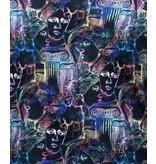 TONY BACKER Luxe Bijzondere Heren Overhemden - 3067 - Geel/Zwart