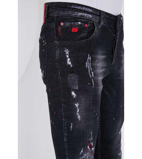 TRUE RISE Exclusieve Stoere Heren Jeans met Stretch - Slim Fit - 5501B - Zwart