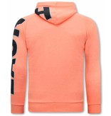 TONY BACKER Oversized Hoodie Heren - Orange