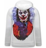 TONY BACKER Joker Hoodies Heren - Wit