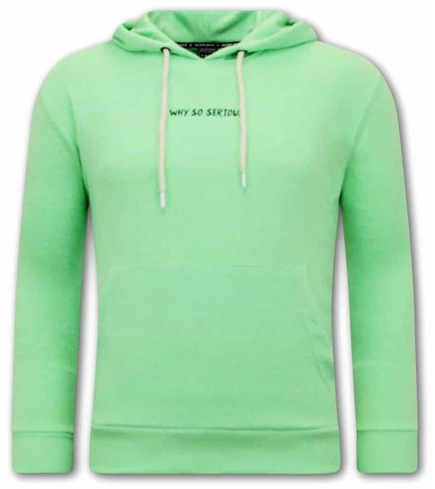TONY BACKER Joker Hoodies Heren - Groen
