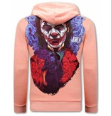TONY BACKER Joker Hoodies Heren - Roze
