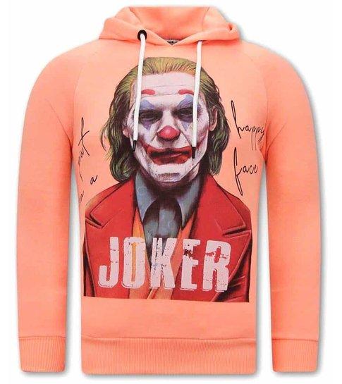 TONY BACKER Joker Print Heren Hoodies - Orange