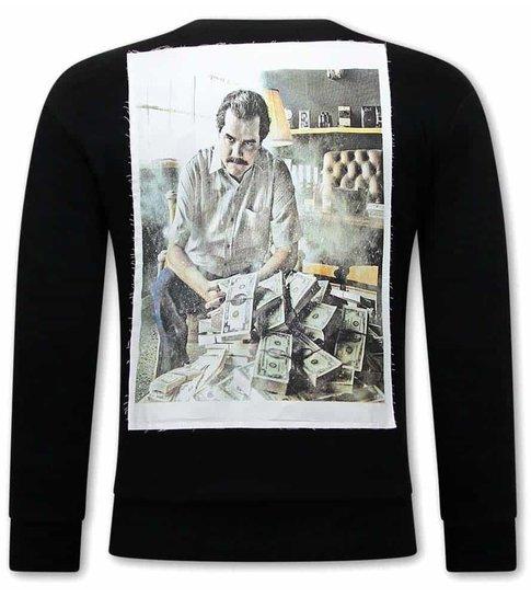 TONY BACKER Nargos Heren Sweater - Zwart