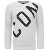 TONY BACKER ICON Heren Sweater - Wit