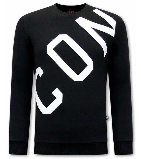 TONY BACKER ICON Heren Sweater - Zwart