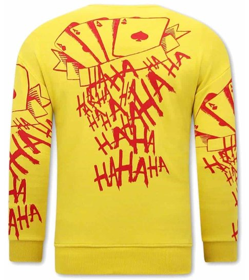 TONY BACKER JOKER Heren Sweater - Geel