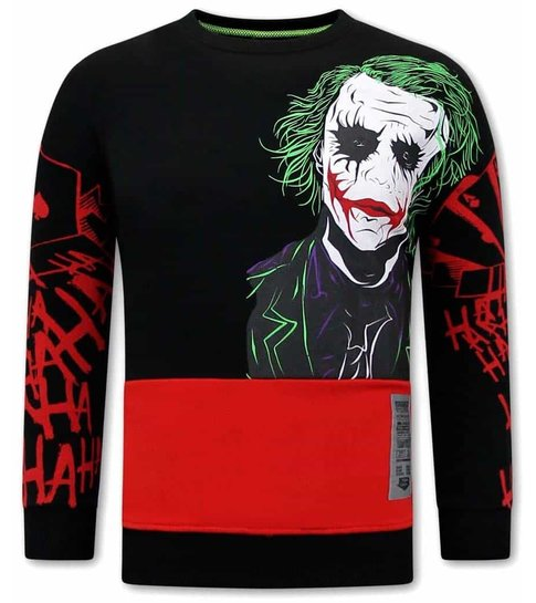 TONY BACKER JOKER Heren Sweater - Zwart