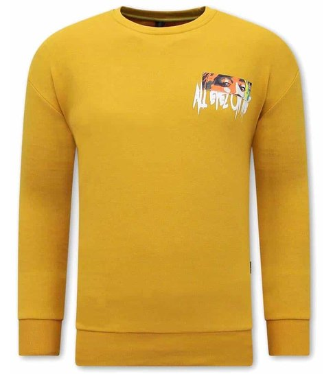 TONY BACKER Heren Tupac Sweater - Geel