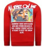 TONY BACKER Heren Tupac Sweater - Rood