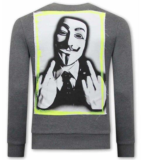 TONY BACKER Anonymous Sweater Heren - Grijs