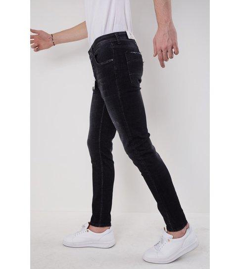 TRUE RISE Heren Jeans Slim Fit - 5508 - Zwart