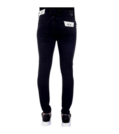 TRUE RISE Nette Heren Stretch Jeans - Slim Fit - 5413 - Zwart / Grijs