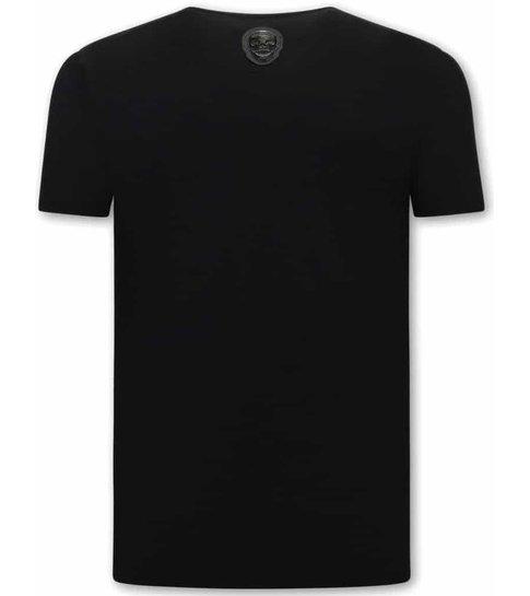 Local Fanatic Plata o Plomo  Narcos Heren  T-shirt  - Zwart