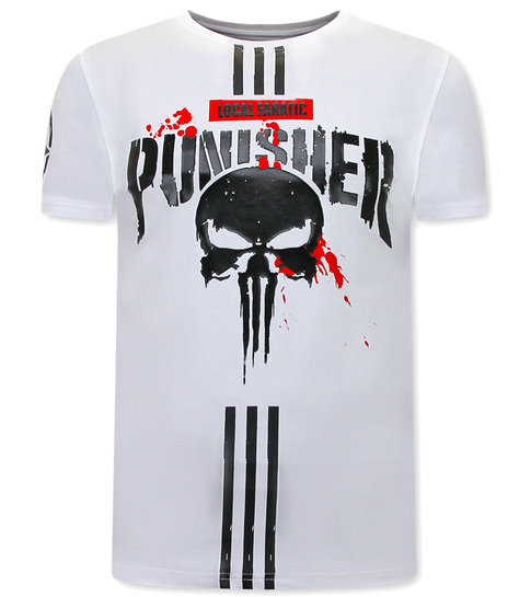 Local Fanatic Punisher T-shirt Heren - Wit