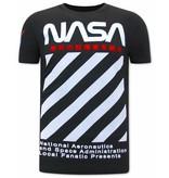 Local Fanatic NASA T-shirt Heren - Zwart