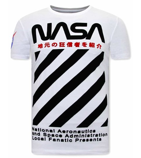 Local Fanatic Stoere Nasa Shirt Heren - Wit