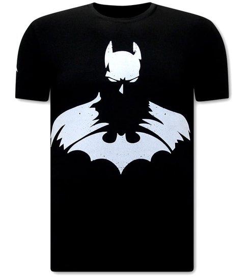 Local Fanatic Stoere  Shirts Heren - Batman Print - Zwart