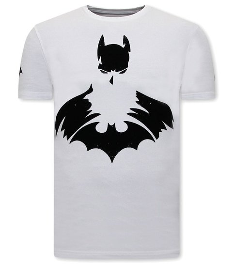 Local Fanatic Coole Shirts Heren - Batman Print - Wit