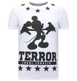 Local Fanatic Heren T-shirt Exclusief  - Terror Mouse - Wit
