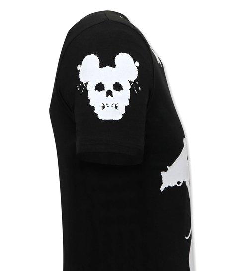 Local Fanatic Exclusief Mannen T-shirt  - Terror Mouse - Zwart