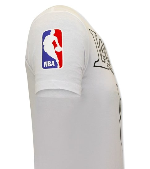 Local Fanatic Heren Lakers T-shirt - Bryant - Wit