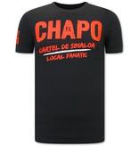 Local Fanatic EL Chapo Heren T-shirt  - Cartel de Sinaloa  - Zwart