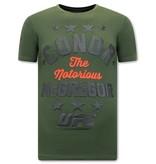 Local Fanatic The Notorious Mcgregor Print Shirt Heren - UFC - Groen