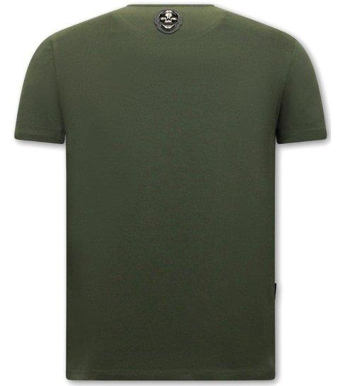 Local Fanatic Heren Shirt met Print  - Virgins Wanted - Groen