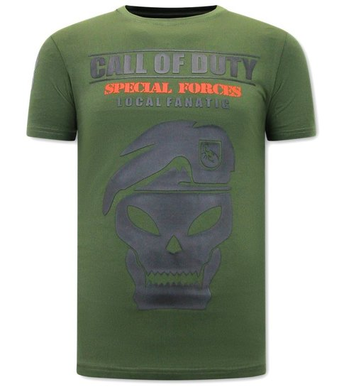 Local Fanatic Heren T-shirt Call of Duty - Groen