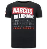 Local Fanatic Print Shirt Heren  - Narcos - Zwart