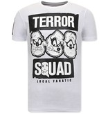Local Fanatic Heren T shirts met Print - Beagle Boys Squad  - Wit