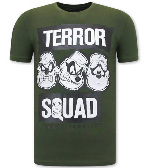 Local Fanatic T-shirt Heren met Opdruk - Beagle Boys Squad  - Groen