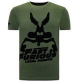Local Fanatic Grappige t shirts Mannen  - Fast and Furious - Groen