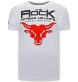 Local Fanatic The Rock Heren T-shirt  - Wit