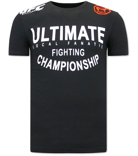 Local Fanatic UFC Ultimate Heren Tshirt  - Zwart