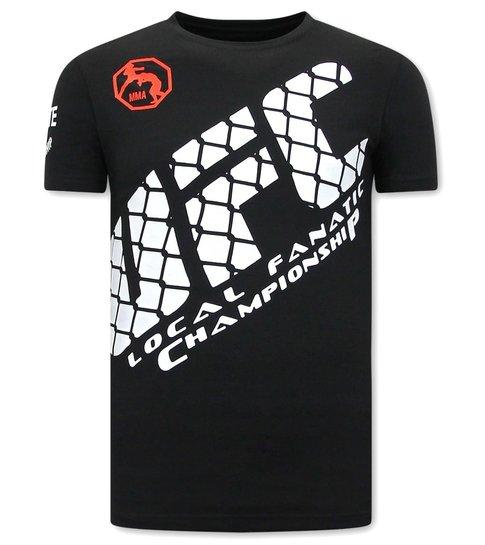 Local Fanatic Print Shirt Heren - UFC - Zwart