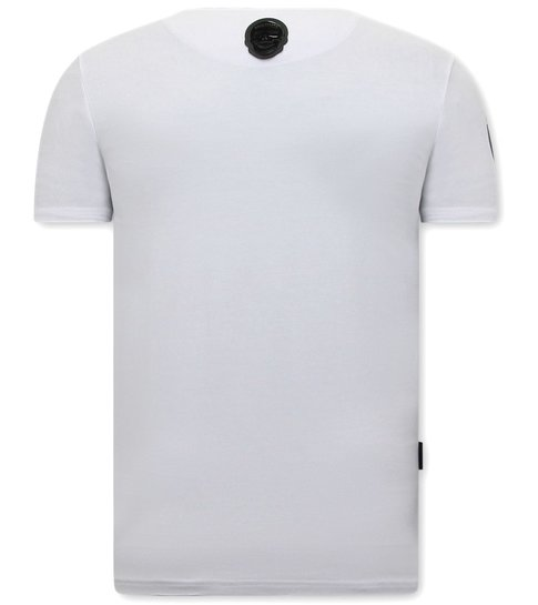 Local Fanatic T shirts Print Heren - DuckSide - Wit