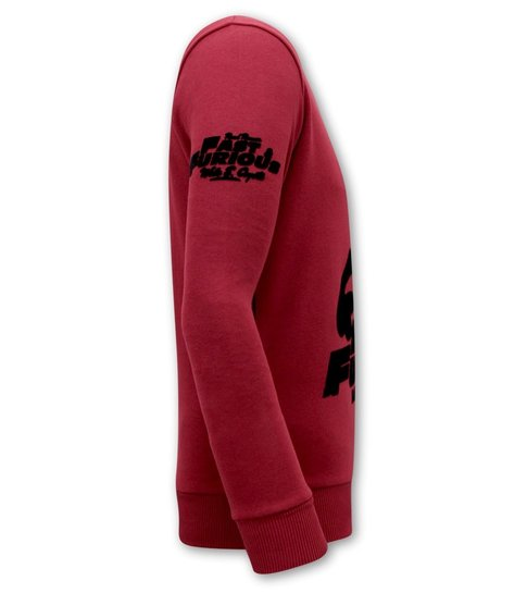Local Fanatic Heren Sweater - Fast and Furious - Bordeaux