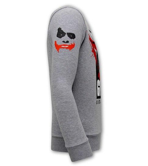Local Fanatic Heren Sweater - Straight Outta Ghetto - Grijs