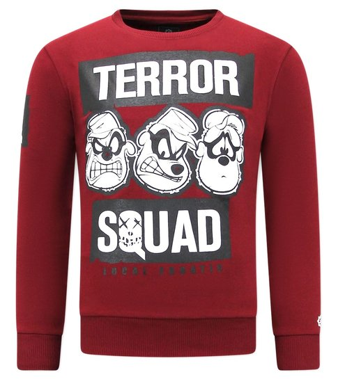 Local Fanatic Heren Sweater met Print - Terror Beagle Boys - Bordeaux